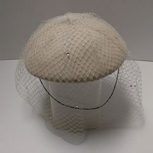 Vintage hat with lace and sequins